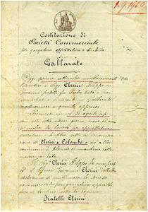 Atto Costitutivo 1900 | Tintoria Clerici