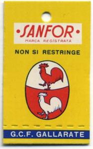 Marchio Sanfor | Tintoria Clerici
